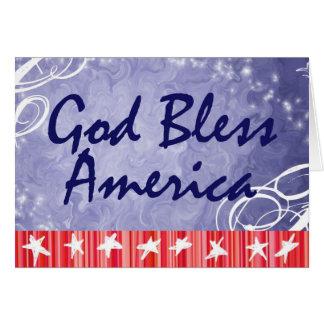 Patriotic Greeting Cards- God Bless America