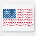 Patriotic Greyhound Dog Mouse Pads