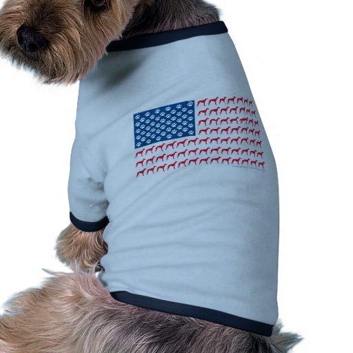 Patriotic Greyhound Dog Pet Shirt