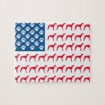 Patriotic Greyhound Dog Puzzles