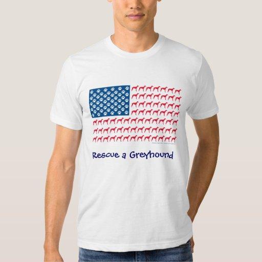 Greyhound T Shirts Rescue Patriotic Greyhound Re...