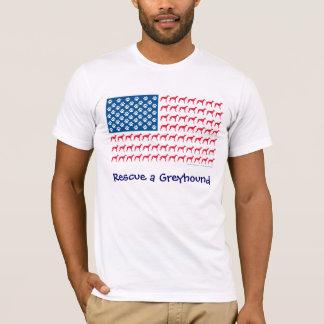 Patriotic Greyhound Rescue T-Shirt