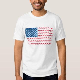 Patriotic Greyhound T Shirts