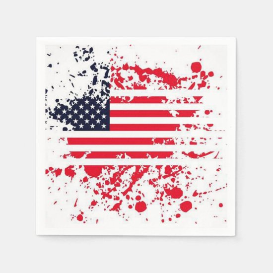 Patriotic Griller July 4th Party Paper Napkins