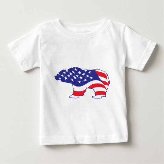 Patriotic Grizzly Bear Baby T-Shirt