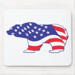 Patriotic-Grizzly Mousepads