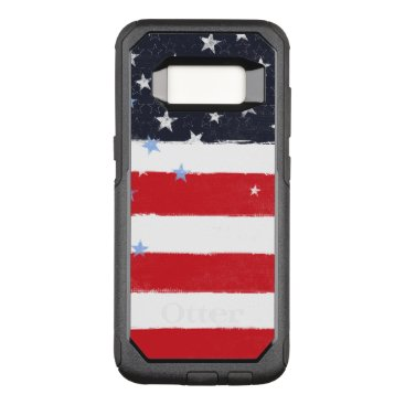USA Themed Patriotic Grunge Stars and Stripes OtterBox Commuter Samsung Galaxy S8 Case