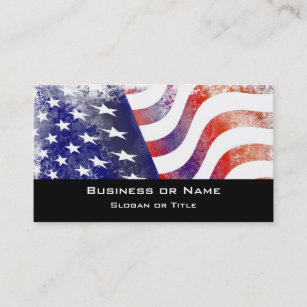 Faded flag business cards templates zazzle patriotic grunge style faded american flag business card reheart Images
