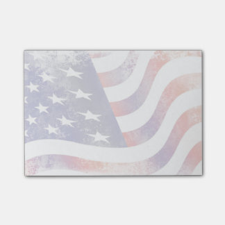 Patriotic Grunge Style Faded American Flag Post-it® Notes