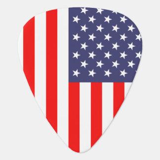 Patriotic guitar pick with American flag