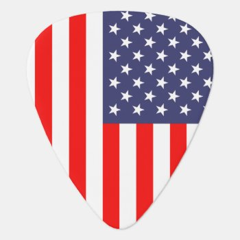 Patriotic Guitar Pick With American Flag by iprint at Zazzle