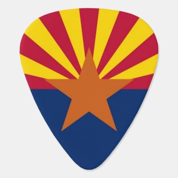 Patriotic Guitar Pick With Flag Of Arizona State by AllFlags at Zazzle
