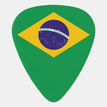 Patriotic Guitar Pick With Flag Of Brazil by AllFlags at Zazzle