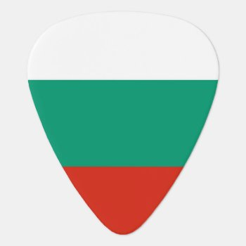 Patriotic Guitar Pick With Flag Of Bulgaria by AllFlags at Zazzle