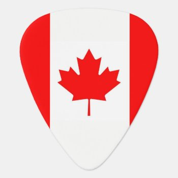Patriotic Guitar Pick With Flag Of Canada by AllFlags at Zazzle
