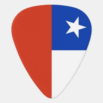 Patriotic Guitar Pick With Flag Of Chile by AllFlags at Zazzle