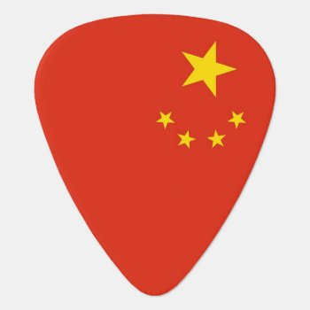 Patriotic Guitar Pick With Flag Of China by AllFlags at Zazzle