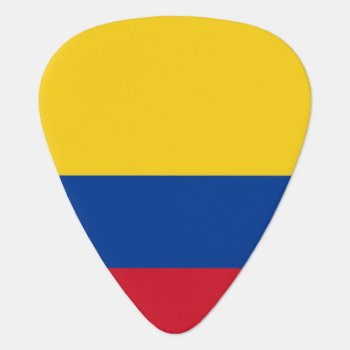 Patriotic Guitar Pick With Flag Of Colombia by AllFlags at Zazzle