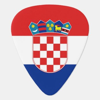 Patriotic Guitar Pick With Flag Of Croatia by AllFlags at Zazzle