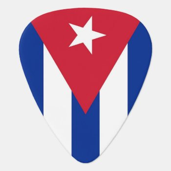 Patriotic Guitar Pick With Flag Of Cuba by AllFlags at Zazzle