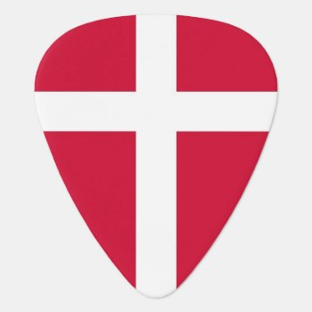 Patriotic Guitar Pick With Flag Of Denmark by AllFlags at Zazzle