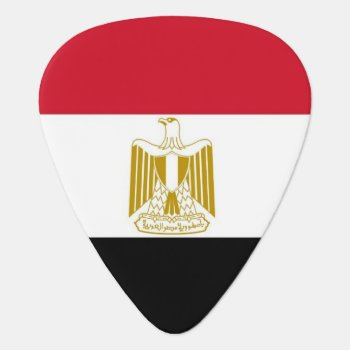 Patriotic Guitar Pick With Flag Of Egypt by AllFlags at Zazzle