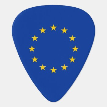Patriotic Guitar Pick With Flag Of European Union by AllFlags at Zazzle