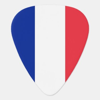 Patriotic Guitar Pick With Flag Of France by AllFlags at Zazzle
