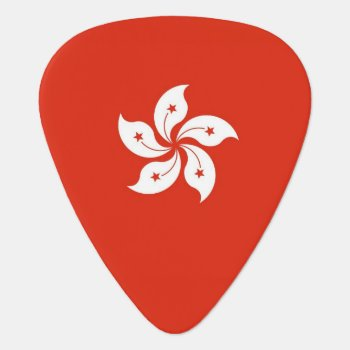 Patriotic Guitar Pick With Flag Of Hong Kong by AllFlags at Zazzle