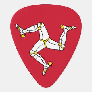 Patriotic guitar pick with Isle of Man Flag, UK