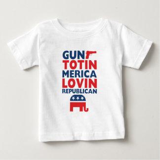 Patriotic - Gun Totin', 'Merica Lovin' Republican Baby T-Shirt