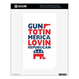 Patriotic - Gun Totin', 'Merica Lovin' Republican Decal For The NOOK Color