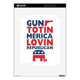 Patriotic - Gun Totin', 'Merica Lovin' Republican Decals For The iPad 2