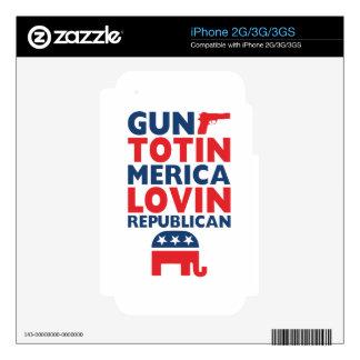 Patriotic - Gun Totin', 'Merica Lovin' Republican Decals For The iPhone 2G