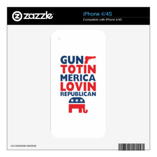 Patriotic - Gun Totin', 'Merica Lovin' Republican iPhone 4S Skins
