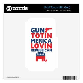 Patriotic - Gun Totin', 'Merica Lovin' Republican iPod Touch 4G Decals