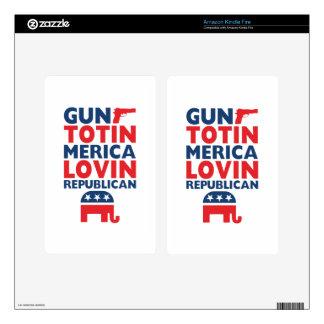 Patriotic - Gun Totin', 'Merica Lovin' Republican Kindle Fire Skin