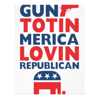 Patriotic - Gun Totin', 'Merica Lovin' Republican Letterhead