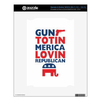 Patriotic - Gun Totin', 'Merica Lovin' Republican Skins For The NOOK