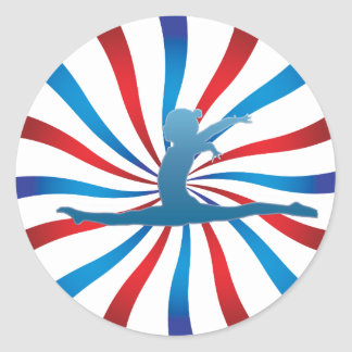 Patriotic Gymnastics Gifts Classic Round Sticker