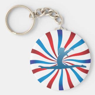 Patriotic Gymnastics Gifts Key Chain
