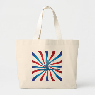 Patriotic Gymnastics Gifts Large Tote Bag