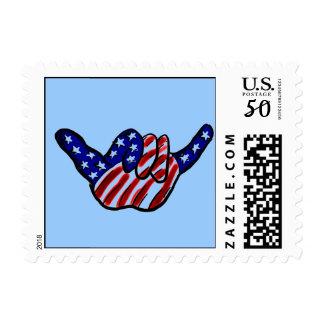 Patriotic hang loose stamp