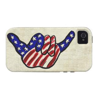 Patriotic hang loose stars stripes iphone 4 case