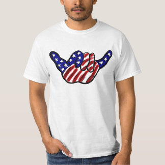 Patriotic hang loose value shirt