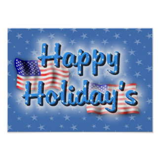 Patriotic Happy Holiday's Poster