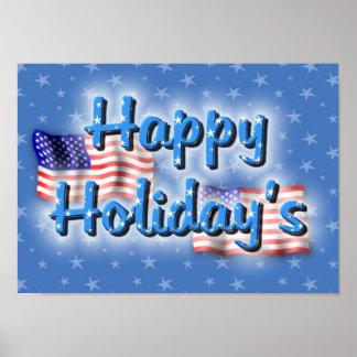 Patriotic Happy Holiday's Posters