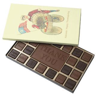 Patriotic Happy Thanksgiving Belgian Chocolate Box