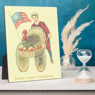 Patriotic Happy Thanksgiving Fuji Photo Plaque