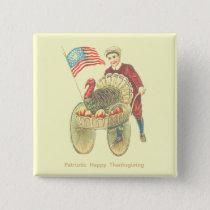 Patriotic Happy Thanksgiving Pinback Button